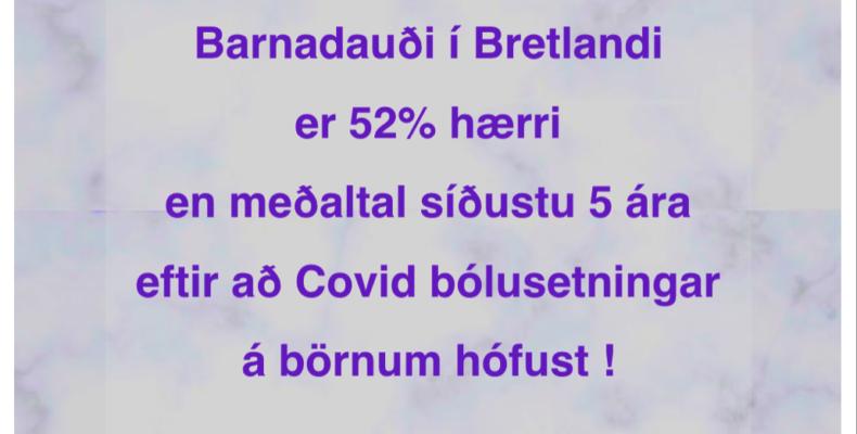 Barnadauði hefur aukist um 52% í Bretlandi síðan Covid bólusetningar hófust – Af hverju hlustar fólk ekki?
